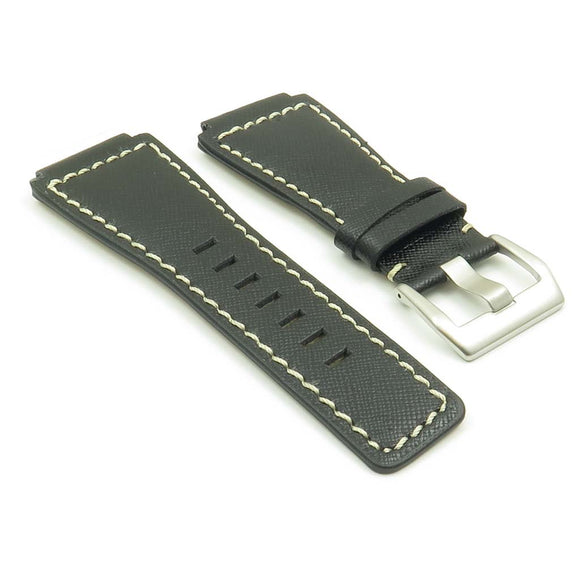 DASSARI Saffiano Cayenne Leather Watch Strap for Bell & Ross