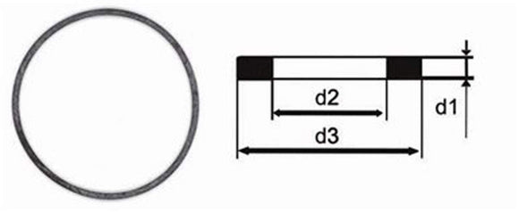 Rolex Generic Bezel and Case Back Flat Gasket 0.60mm x 29.30mm x 30.70mm (Rolex 29.293.106)