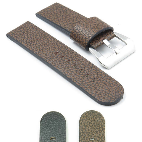 Panerai Dassari Watch Strap Textured Leather with Large  Keeper