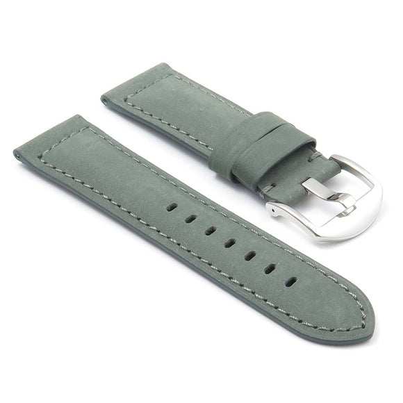 DASSARI Heritage Padded Italian Leather Strap