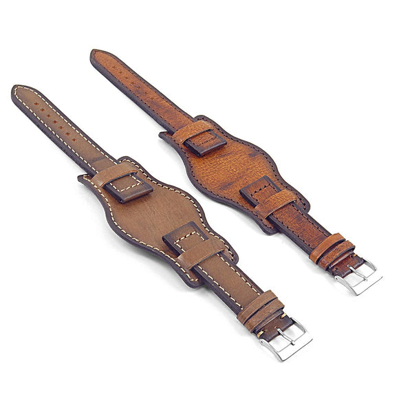 DASSARI Analogue Vintage Leather Bund Strap