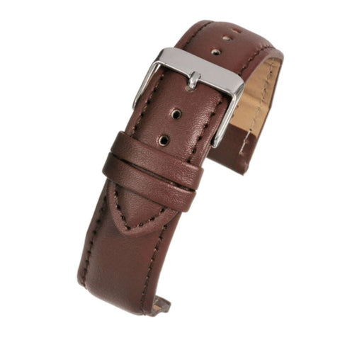 Leather Watch Strap Tan Padded  - Economy Collection