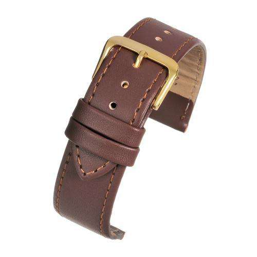 Leather Watch Strap Tan Stitched Economy Collection