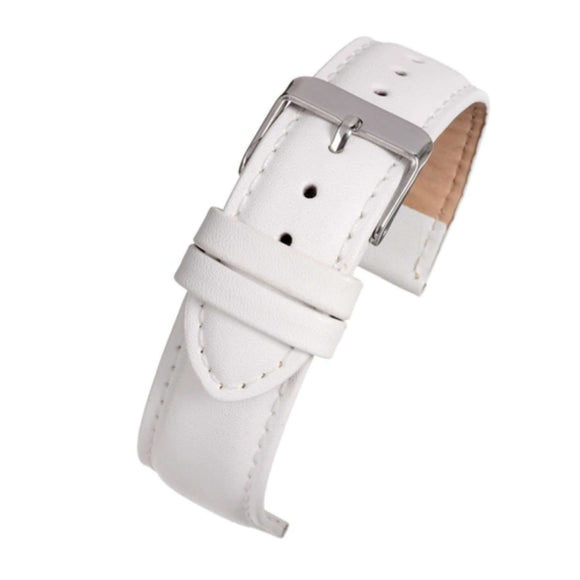 Leather Watch Strap White Padded   - Economy Collection