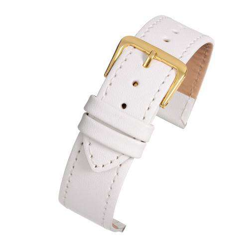 Leather Watch Strap White Stitched Economy Collection