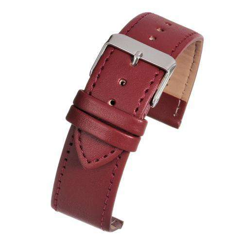 Leather Watch Strap Red Stitched Economy Collection