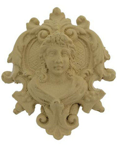 Decorative Wooden Cameo Head on Plaque