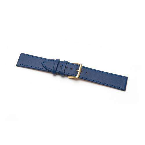 CLEARANCE Leather Watch Strap Extra Long Blue Stitched Economy Collection