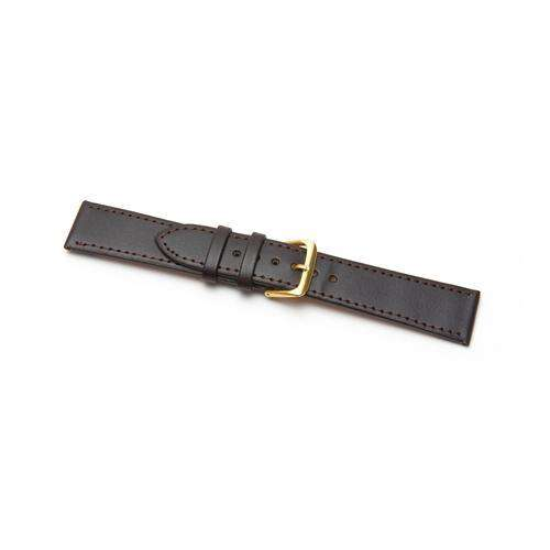 Leather Watch Strap Extra Long Brown Stitched Economy Collection