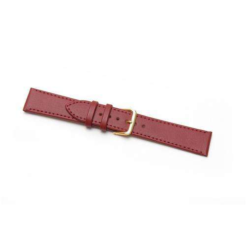 Leather Watch Strap Extra Long Red Stitched Economy Collection