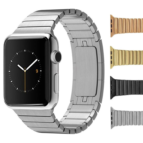 Solid Stainless Steel Link Bracelet for Apple iWatch