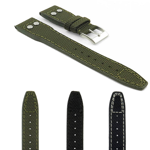 DASSARI Crossover Nylon Strap with Rivets
