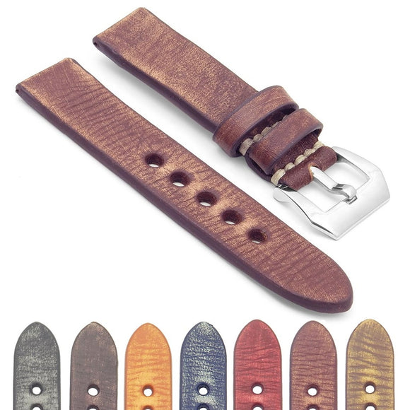 Extra Long Thick Distressed Leather Strap