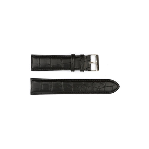 Authentic Hugo Boss Watch Strap Black Crocodile Grain 22mm HB1181142348