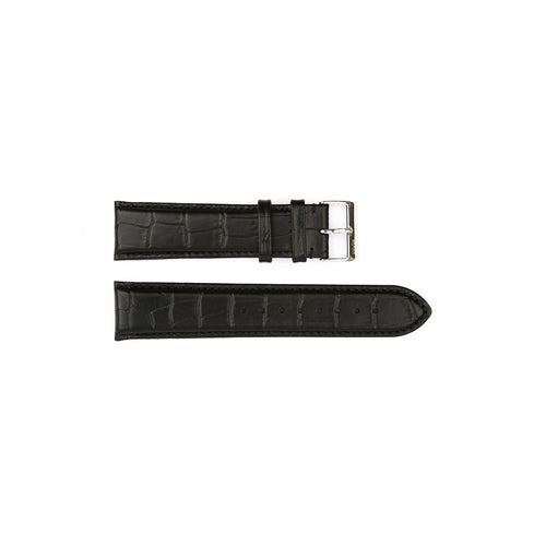 Authentic Hugo Boss Watch Strap Black Crocodile Grain 22mm HB2411142758