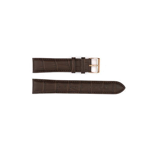 Authentic Hugo Boss Watch Strap Brown Crocodile Grain 20mm HB2751342847