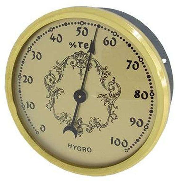 Hygrometer Inserts with Gold Dial Ø70mm x Ø58mm