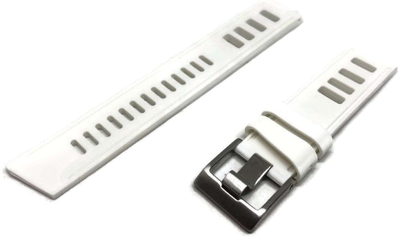 White Diving Watch Strap Vintage Ladder Style Size Stainless Steel Buckle