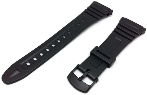 Authentic Casio Watch Strap for W-96H with Black Plastic Buckle