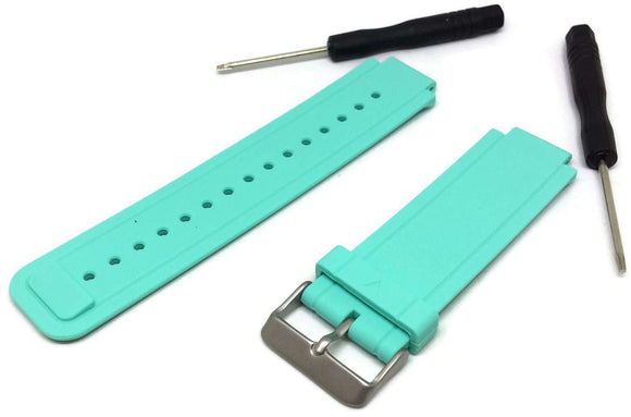 Garmin Vivoactive Mint Green Silicone Watch Strap with Stainless Steel Buckle
