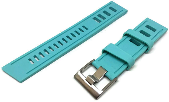 Turquoise Diving Watch Strap Vintage Ladder Style Size Stainless Steel Buckle