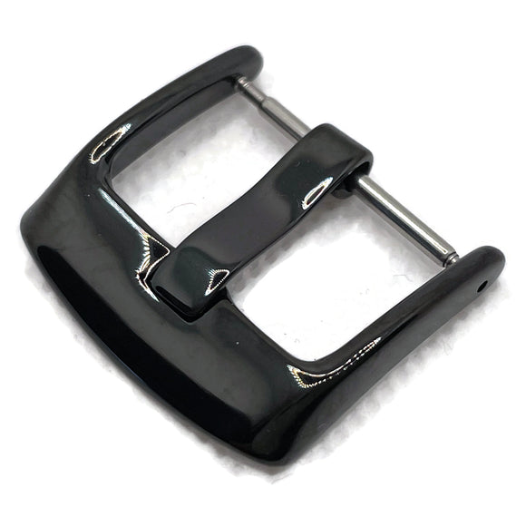 Watch Strap Buckle Black Gloss 4mm Width Tongue 18mm to 24mm