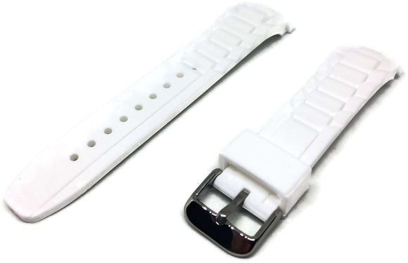 Ice Style Watch Strap White with Stainless Steel Buckle 17mm, 20mm and 22mm