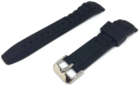 Ice Style Watch Strap Black with Stainless Steel Buckle 17mm, 20mm and 22mm