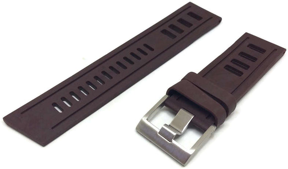 Brown Isofrane Style Diving Watch Strap Vintage Ladder Style Size Stainless Steel Buckle