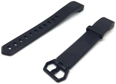 Watch Strap for FITBIT ALTA Black Silicone Rubber Sizes Small and Large