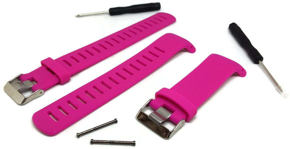 Hot Pink Silicone Watch Strap for Suunto D4/D4I NOVO Dive Computer plus FREE extension strap