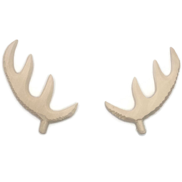 Cuckoo Clock Wooden Deer Antlers Unfinished, 65mm, 80mm, 120mm