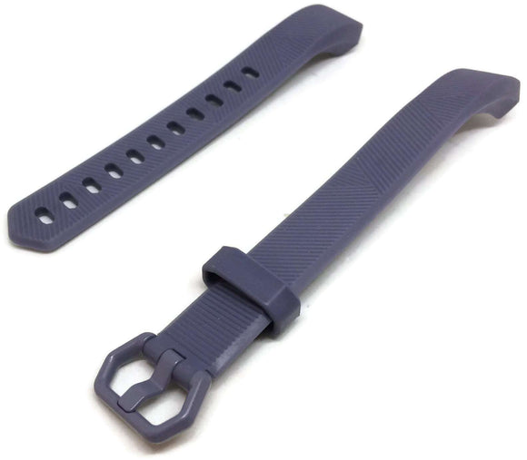 Watch Strap for FITBIT ALTA Grey Silicone Rubber Sizes Small and Large