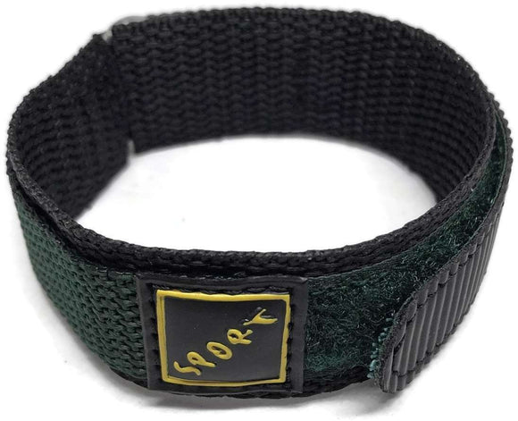 Velcro Watch Strap Green with Stainless Steel Ring 14mm and 18mm