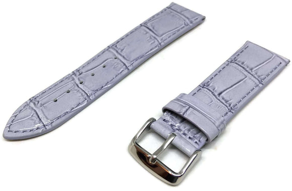 Crocodile Grain Watch Strap Purple Super Croc Grain with Nubuck Leather