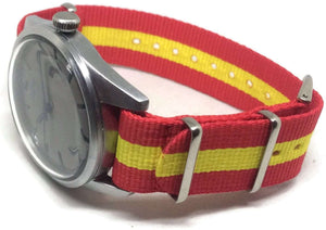 NATO Zulu G10 Watch Strap with Spanish Flag Size 18mm to 22mm