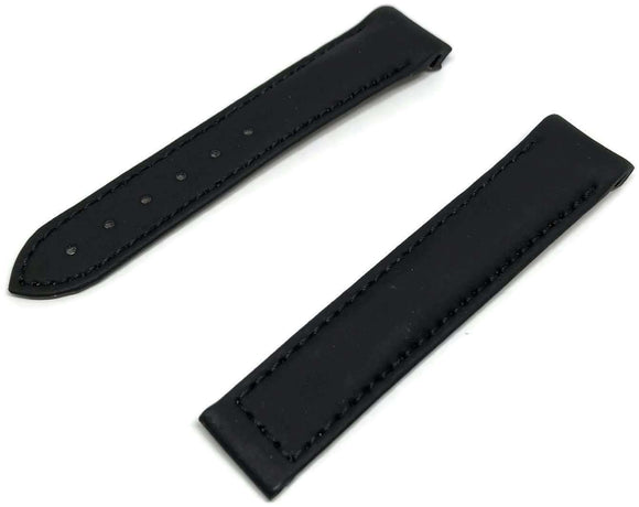 CLEARANCE Authentic Omega Watch Strap 18mm Rubber Black Deployment 98000038