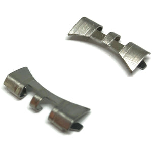 Watch Bracelet End Piece 20mm (8.6mm) Stainless Steel Curved End, 2 cut (PAIR)