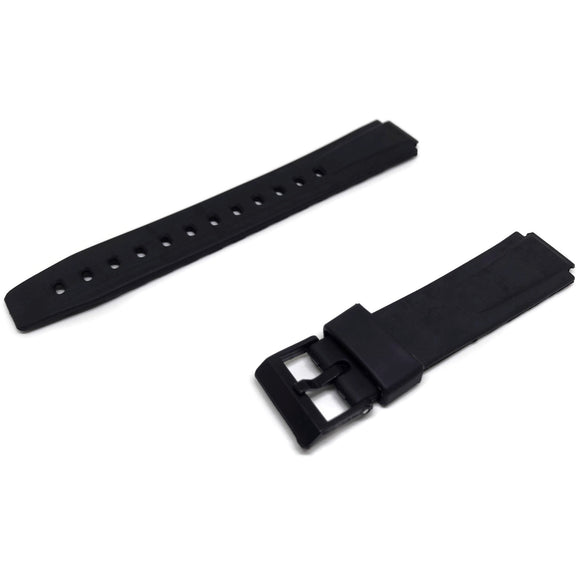 Casio Generic Watch Strap Black Resin 14mm for Casio 332P2, W725, W726
