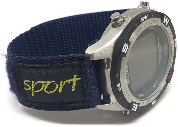 Velcro Watch Strap Navy Nylon Sports 14mm and 18mm