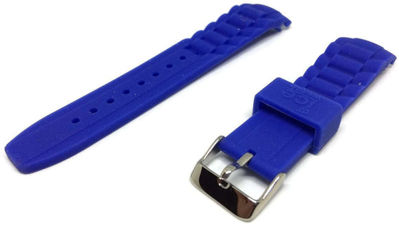 Authentic Ice Watch Strap Blue with Stainless Steel Buckle Sizes 17mm, 20mm and 22mm