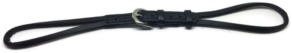 Cordette String Watch Strap Black Leather with Stainless Steel Buckle