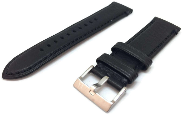 Authentic Armani Exchange Watch Strap Black Leather for Armani AX2101