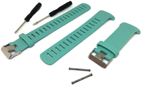 Cyan Silicone Watch Strap for Suunto D4/D4I NOVO Dive Computer plus FREE extension strap