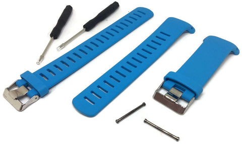 Blue Silicone Watch Strap for Suunto D4/D4I NOVO Dive Computer plus FREE extension strap