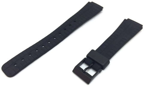 Casio Generic Watch Strap 16mm 250P1 Generic with Black Plastic Buckle