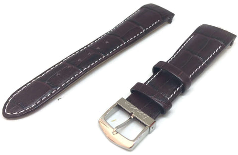Authentic Citizen Watch Strap Brown Crocodile Grain Calf Leather 22mm 59-S51439
