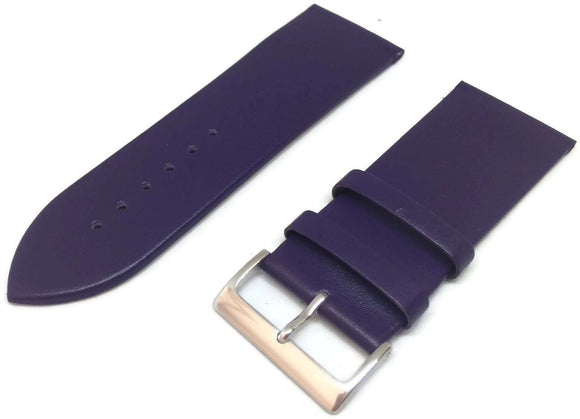 Vibrant Purple Calf Leather Watch Strap with Chrome Buckle Size 12mm to 30mm