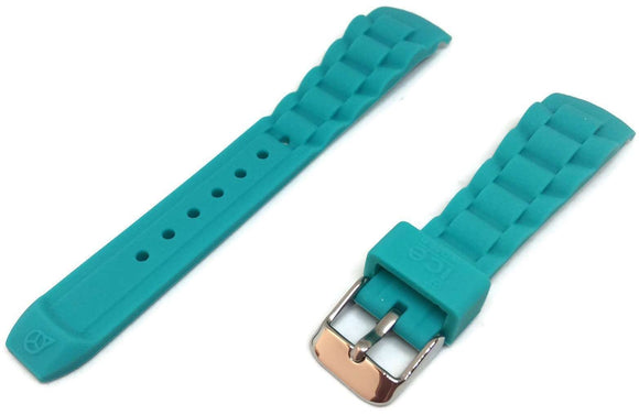 Ice Watch Strap Turquoise with Stainless Steel Buckle Sizes 17mm, 20, and 22mm