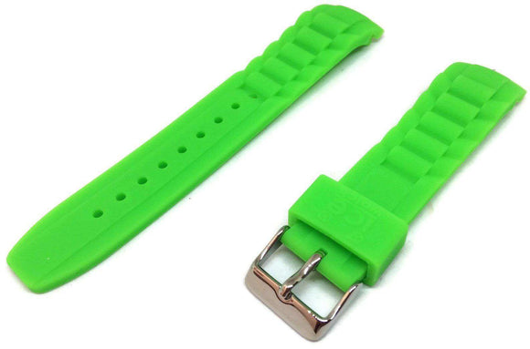 Authentic Ice Watch Strap Green with Stainless Steel Buckle Sizes 17mm, 20, and 22mm
